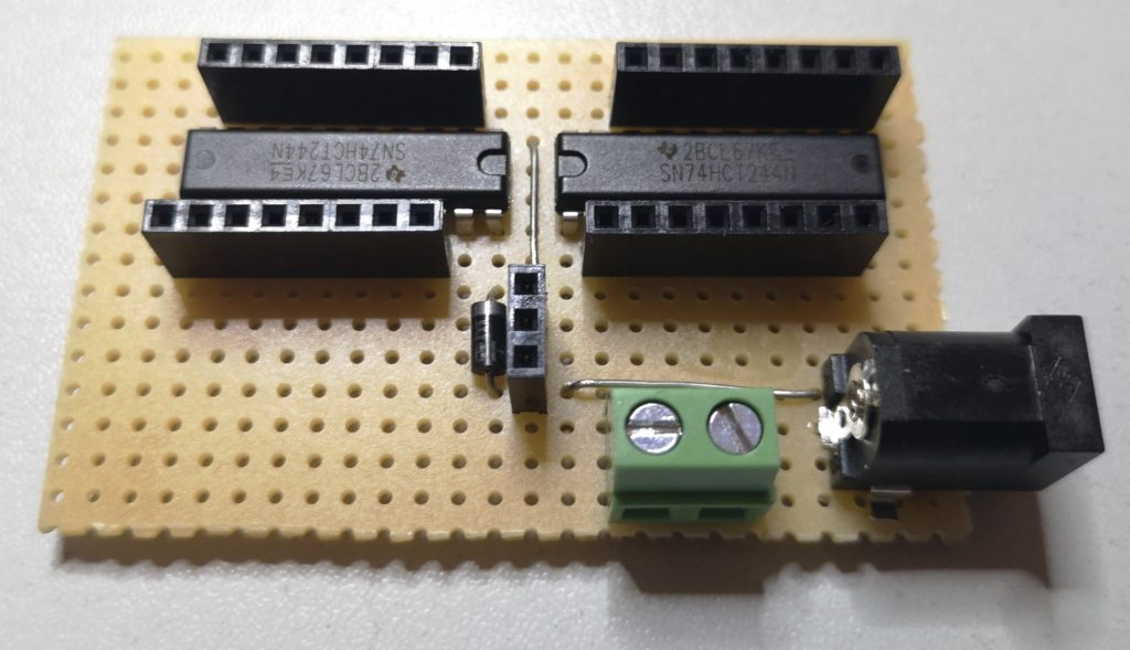 Level shifter board top side